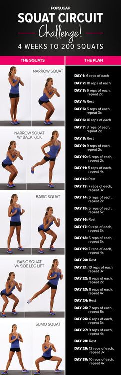 30 Squat Challenge. 4 weeks to sculpted legs and a lifted booty.