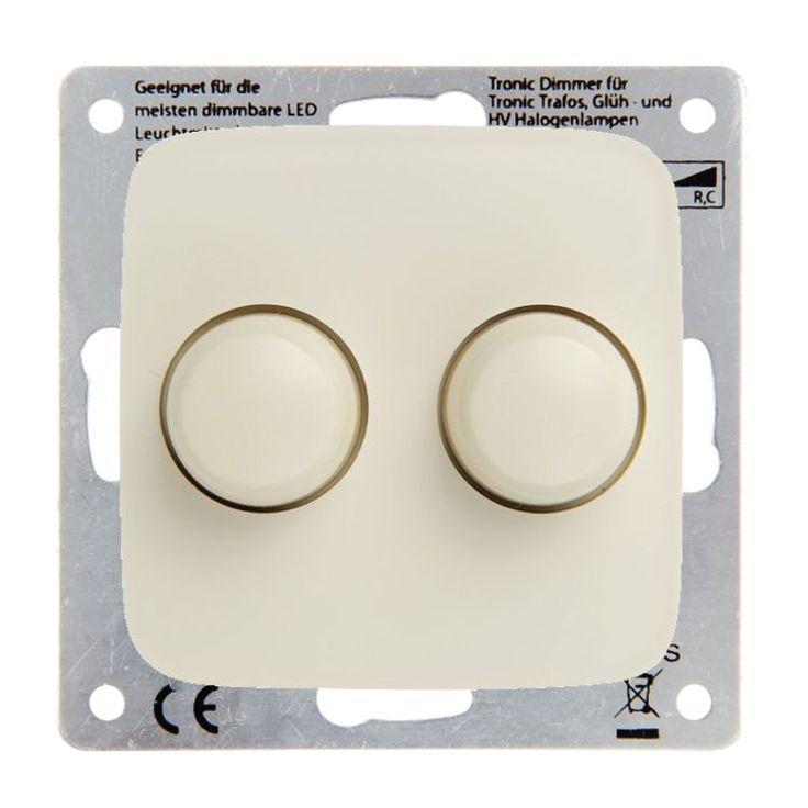 Deze duo muurdimmer is ook geschikt voor dimbare spaarlampen, halogeenlampen en gloeilampen van minimaal 3 en maximaal 100 Watt.
