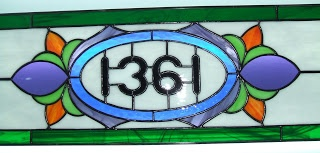 Vintage Style Stained Glass - Transom