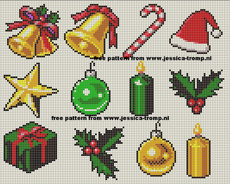 Christmas ornaments perler bead patterns