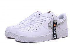 f0ea1a42f Unisex Nike Air Force 1 '07 Just Do It Pack White Black Total Orange BQ5361  100 Men's Women's Casual Shoes