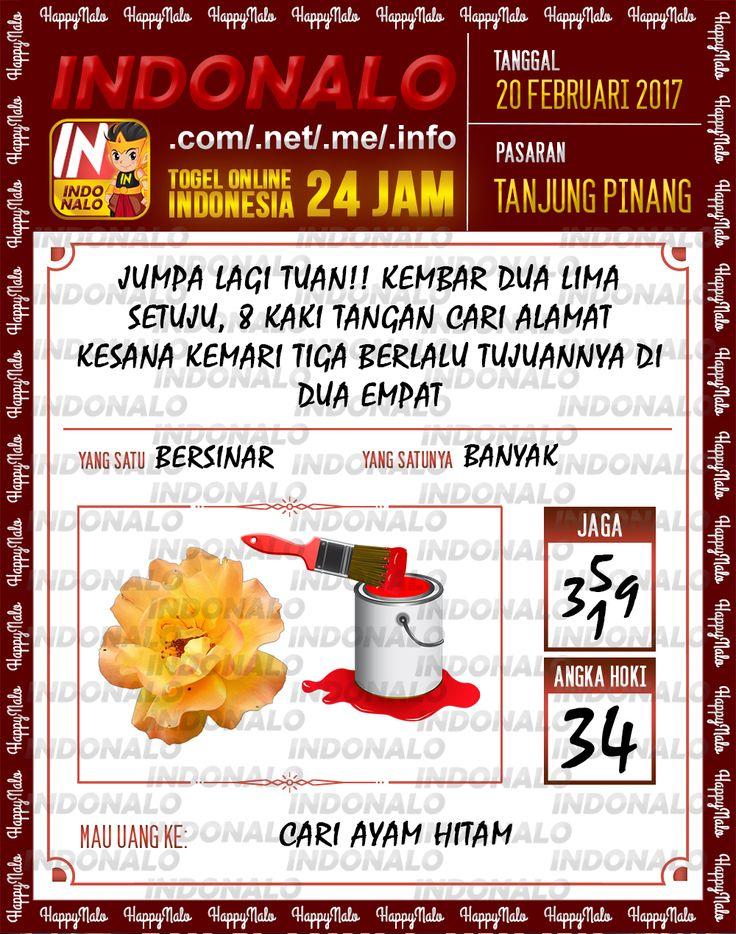 Taysen Hoki 4D Togel Wap Online Live Draw 4D Indonalo Tanjung Pinang 20 Febuari 2017