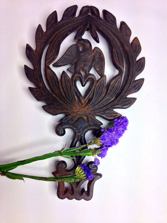 Wilton Cast Iron Eagle and Heart Trivet by Eagleseyefinds on Etsy, $12.00