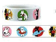 Dogs Masking Tape - Gaspard Et Lisa Funtape Deco Paper Masking Tape 15mm x 15m. $7.50, via Etsy.