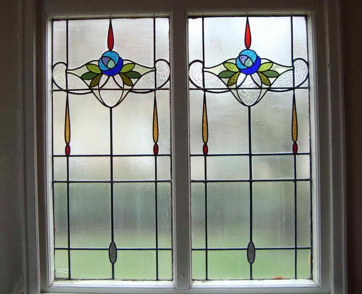 Outstanding Stained Glass Window Film Artscape With Simple Design ...