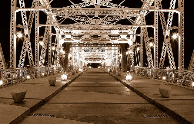 Walking Bridge in Downtown Nashville  The best photographic view of the city!  # onlyinnashville