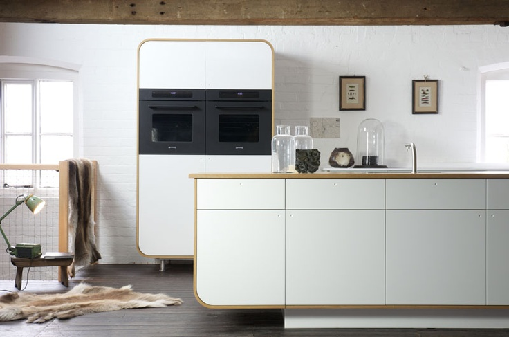 Modern eco-materials and time honoured construction techniques, brought together in one sleek modern retro kitchen by deVOL.