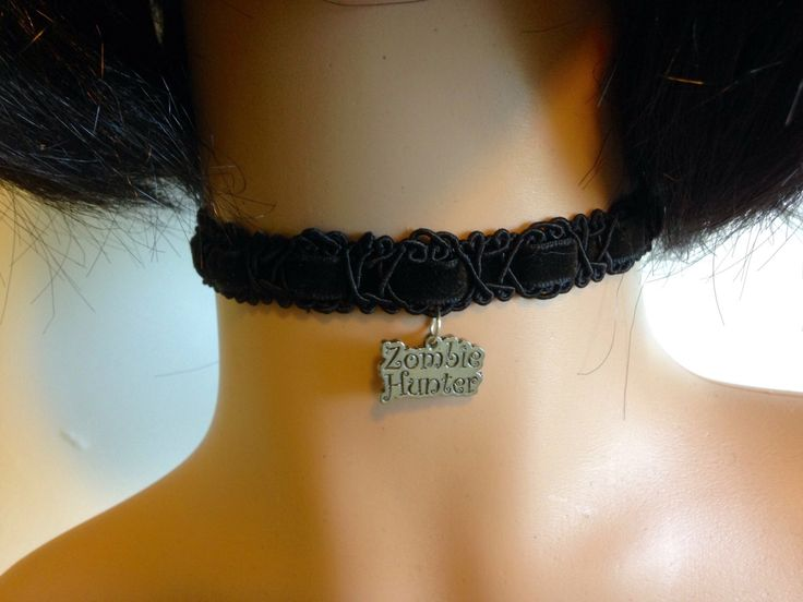 A personal favorite from my Etsy shop https://www.etsy.com/listing/385300808/zombie-hunter-choker-necklace-black