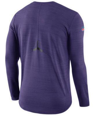 Nike Men's Baltimore Ravens Player Top Long Sleeve T-Shirt - Purple XXL