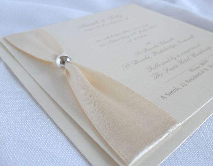 Luxury Handmade Wedding Invitations/Stationery   VIENNA (IVORY)