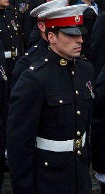 A Royal Marine.