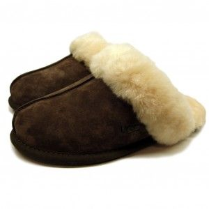 20% Off Designer UGG Australia Scuffette II Chocolate Slippers. #UGGAustralia #UGG #Slippers #designer #sale #bargain #discount #womensslippers #shoes #fashion #warm