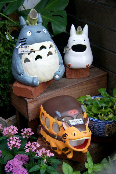 """My Neighbour Totoro"" garden decorations outside a Studio Ghibli shop in Kamakura, Japan"