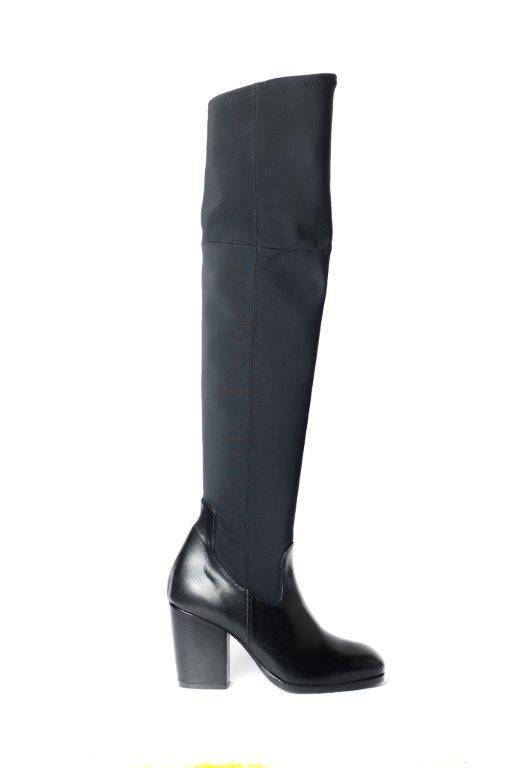 black cuissard boots