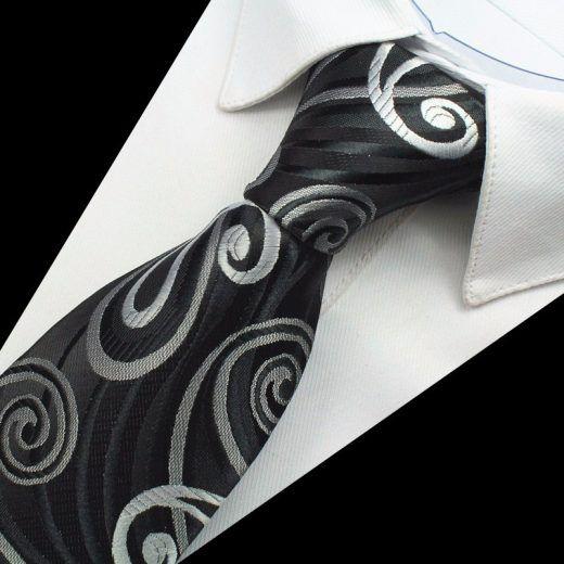 Hodvábny kravatový set - kravata + manžety + vreckovka - vzor06