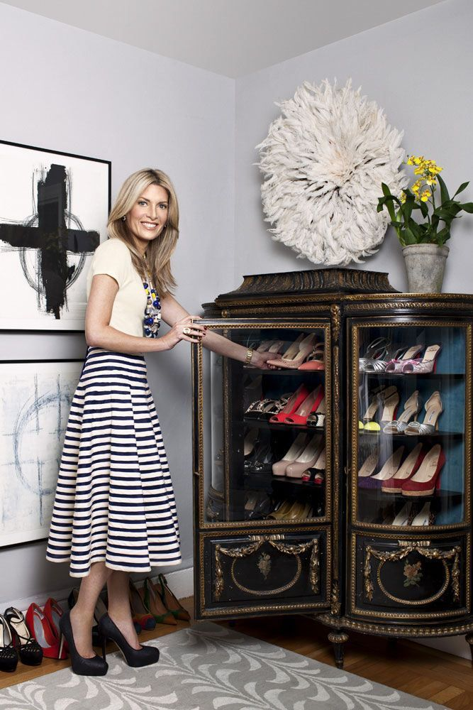 12 Life Changing Ways to Organize Shoes and Accessories -- China cabinet display in the bedroom: