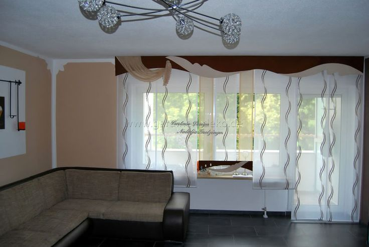 Moderner Und Heller Schiebevorhang Fürs Wohnzimmer Http
