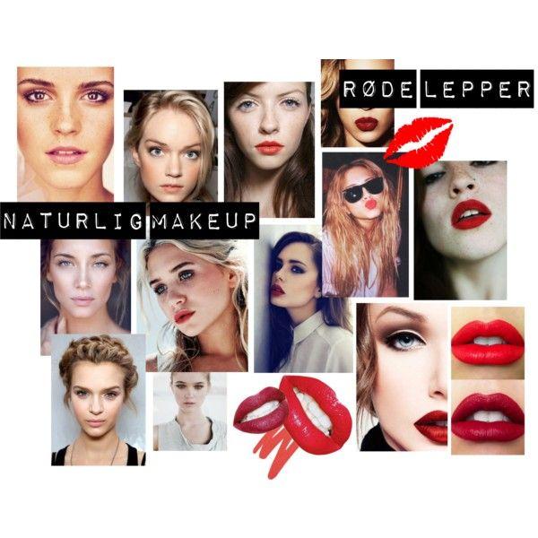 """""""naturlig make up røde lepper"""" by lene-michelle on Polyvore"""