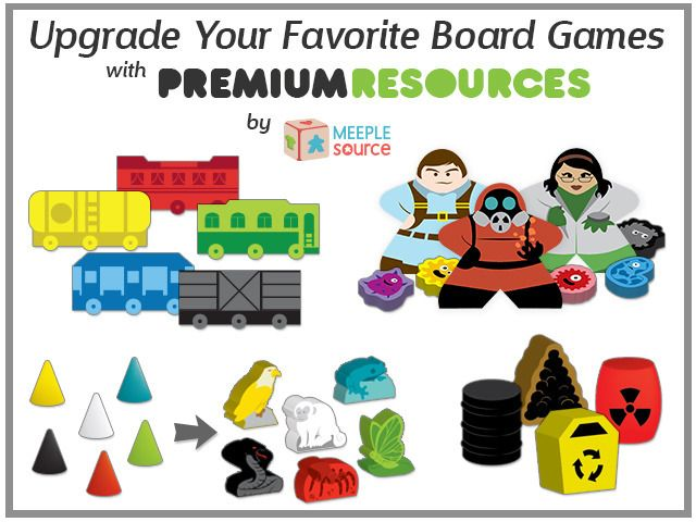 Upgrade your favorite board games with amazing multi-color board game resource bits! TTR, Power Grid, Pandemic, and many more!