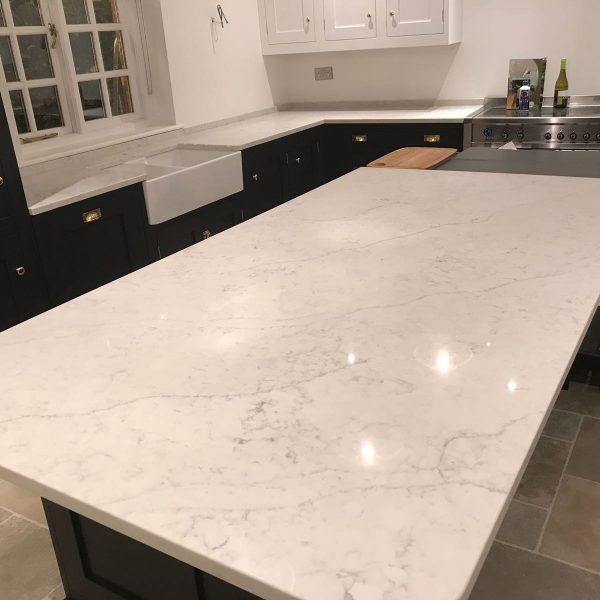 Best Noble Carrera Quartz Worktops Carrera Marble Kitchen 400 x 300