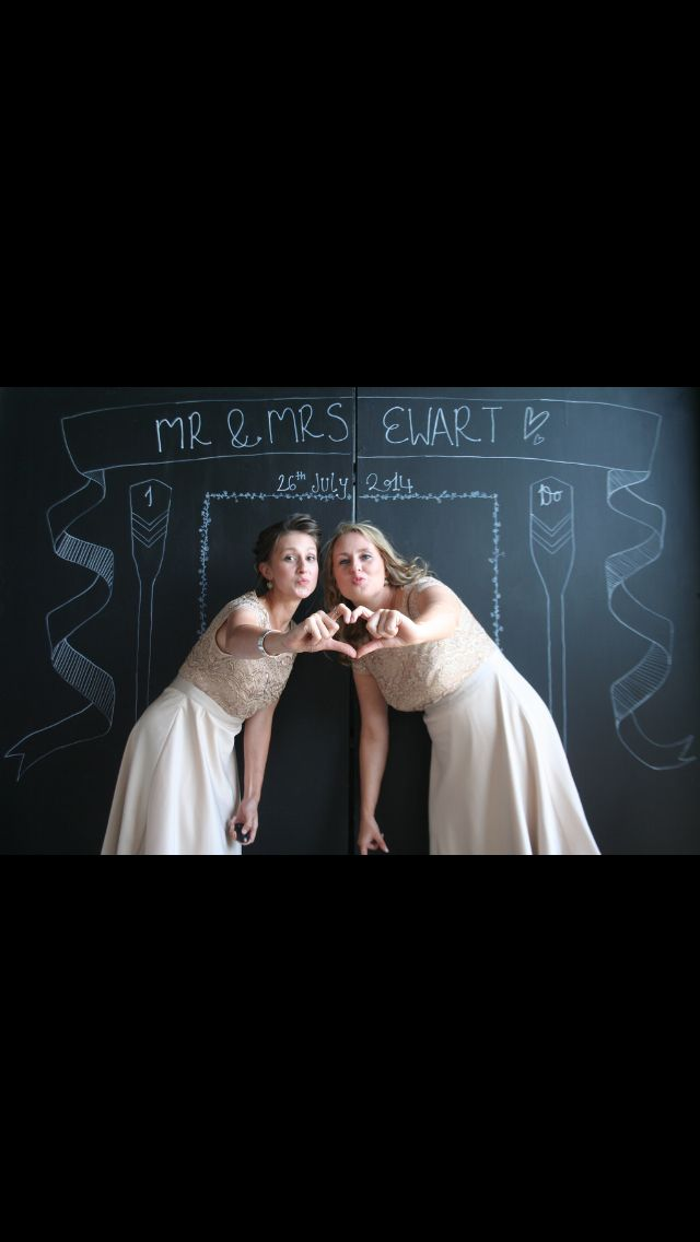 Bridesmaids in the photobooth