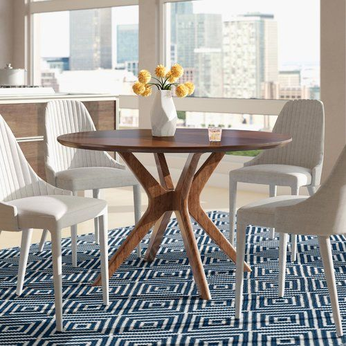 Langley Street Cassius Trestle Dining Table Reviews Wayfair Dining Table In Kitchen Contemporary Dining Table Dining Table