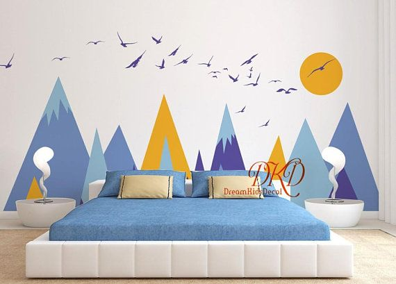 Mountains Decals For Kids Room Mountain Sticker For Nursery