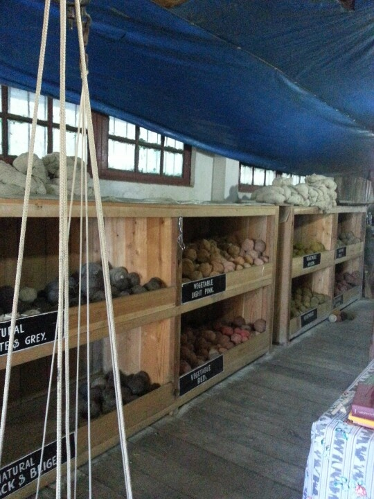 Wool dyed with natural colours, Tibetian refugee center Darjeeling