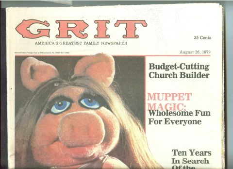 grit newspaper | Details about GRIT Newspaper 1979 MUPPETS Miss Piggy-MICKEY MOUSE-Star ...