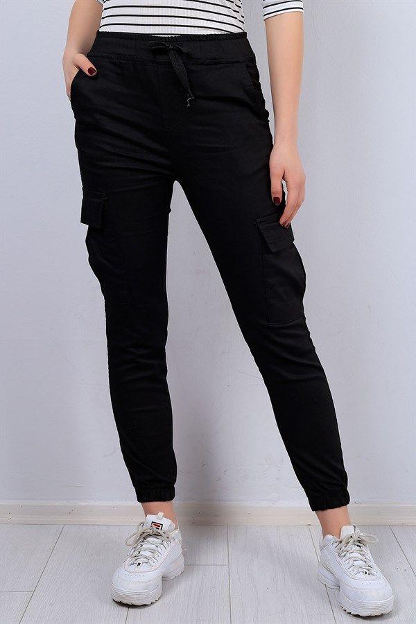 39 95 Tl Siyah Yuksek Bel Bayan Kot Kargo Pantolon 12799b Modamizbir Kargo Pantolon Pantolon Kotlar
