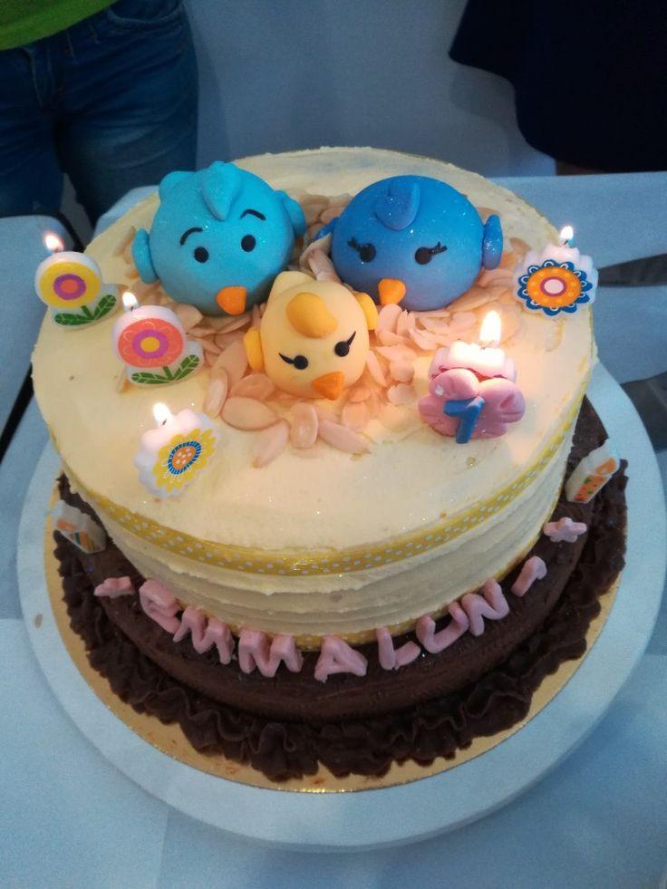 My first birthday! Birthday cake!