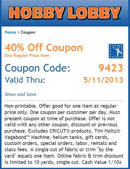 Hobby lobby coupon code free shipping