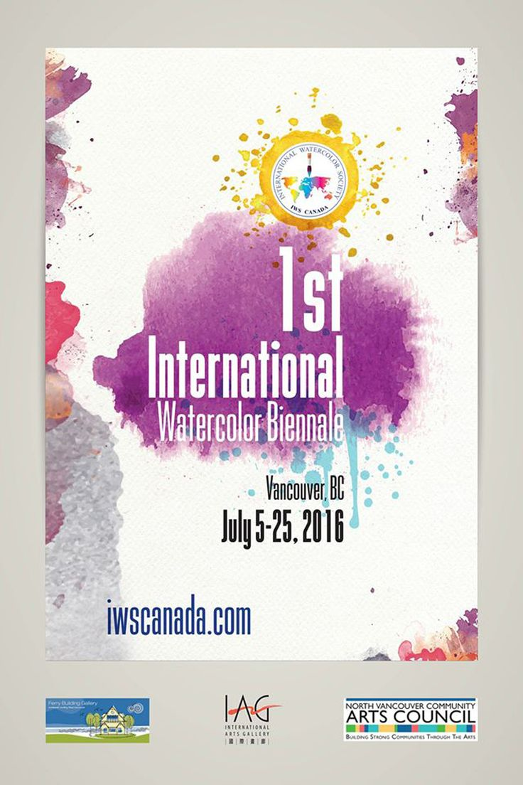 IWSCanada 1st International Watercolour Biennale 2016 Jul 5 - 25