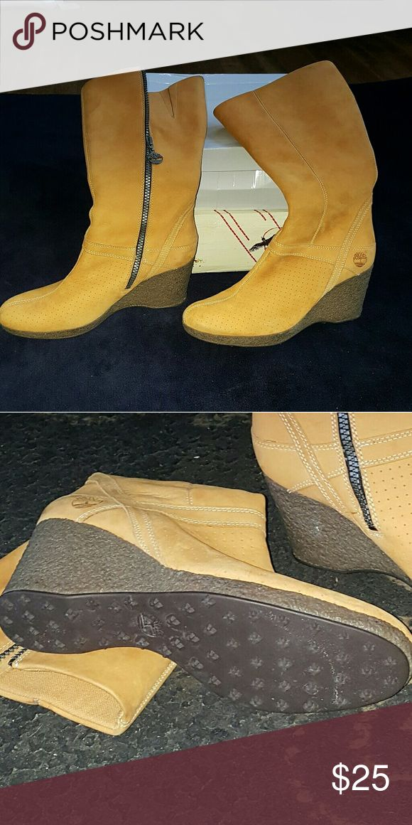 Timberland Boots Ladies Timberland Wedge Boots. Never worn! Timberland Shoes Winter & Rain Boots
