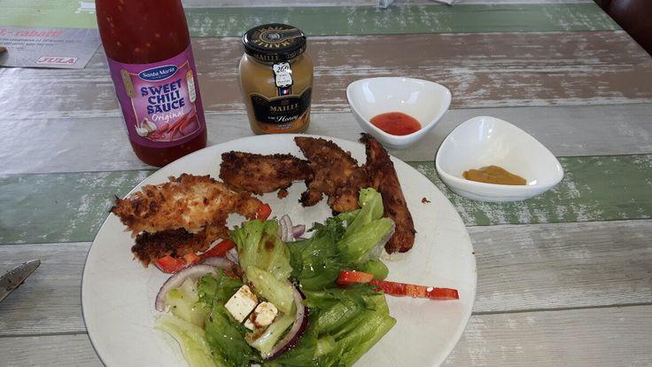 Fritert kylling spiste vi en del av i Korea, og vi digget det 😃 Så når kylling...