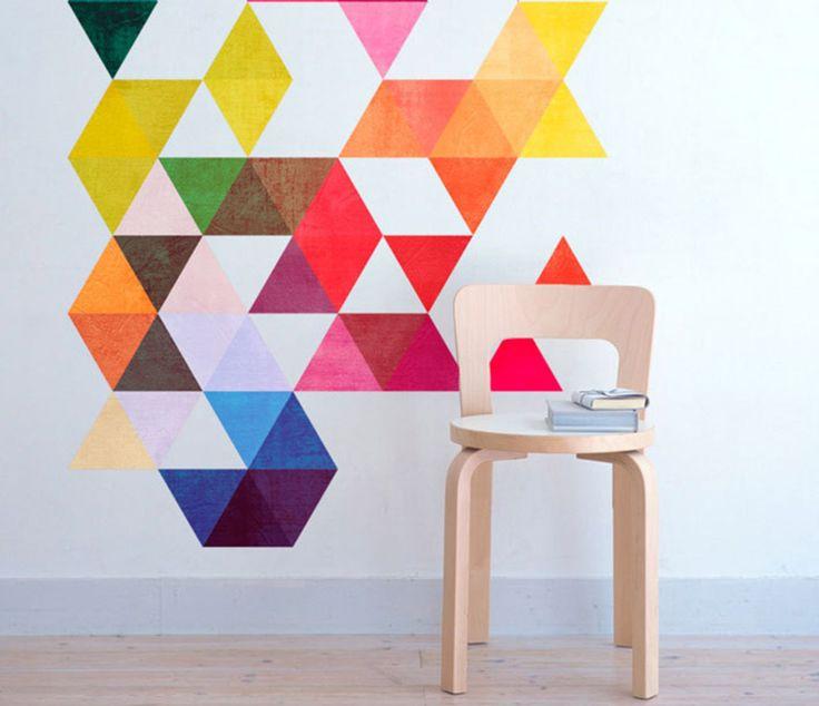 Wzory geometryczne w przedpokoju