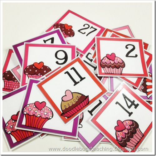 Calendar Cards - perfect for recognizing patterns, putting numbers in order, or having simple numbers to add together. Happy February.