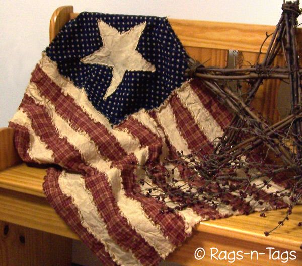 Primitive American Flag Quilt Pattern   Need to make this :o)