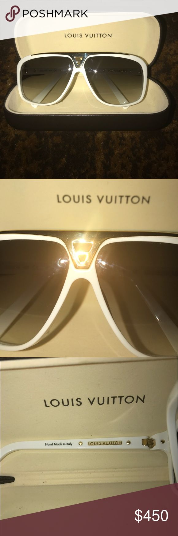 Louis Vuitton Evidence sunglasses Great condition ! Unfortunately No dust bag . Very minuscule scratches on gold. Louis Vuitton Accessories Glasses