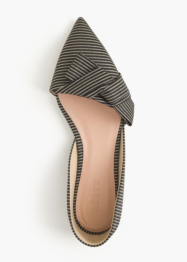 sloan striped d'orsay flat