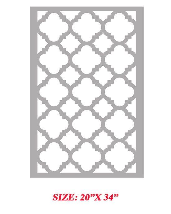 Printable Moroccan Stencils | Printable Possibilities... / Stencil Boss | Mia Quarterfoil Clover ...