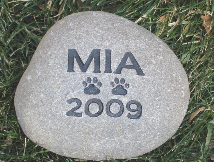Personalized Pet Memorial Stone Grave Headstone 5-6 Inch Burial Gravestone Marker #burial_stone_marker #cat_memorial #dog_memorial