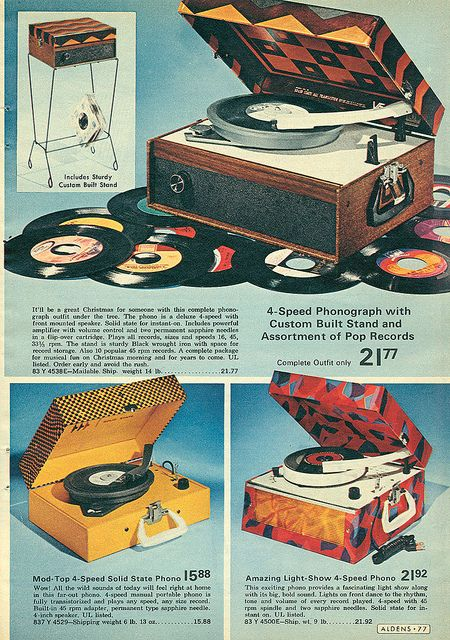 1972 Aldens Christmas Catalog. I got a record player, my sister got a tape player that Christmas.