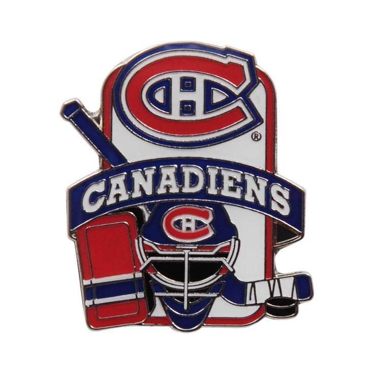 Montreal Canadiens Goalie Equipment Lapel Pin