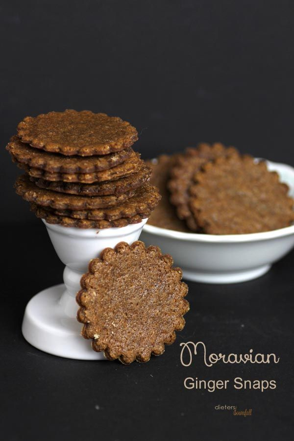 Moravian Ginger Snap Cookies-Dieter's Downfall  Flavorful ginger snaps to spice up fall.