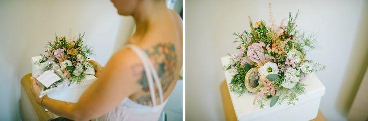 tatuaggio matrimonio bouquet