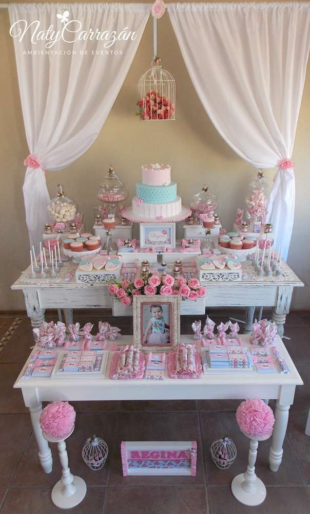 Shabby Chic Birthday Party Ideas Photo 1 Of 18 Catch My Party