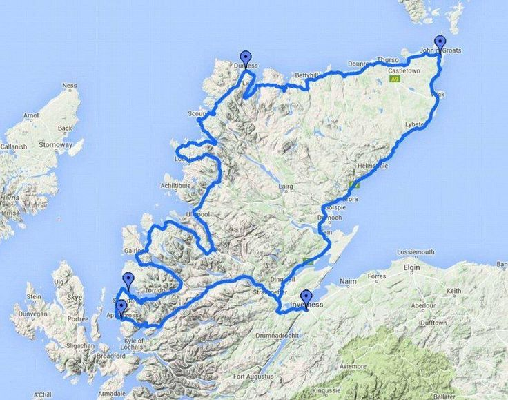 NC500 - I wanna drive it!!!Scotland's version of Route 66 is named one of the world's top road trips  Source: Google Maps