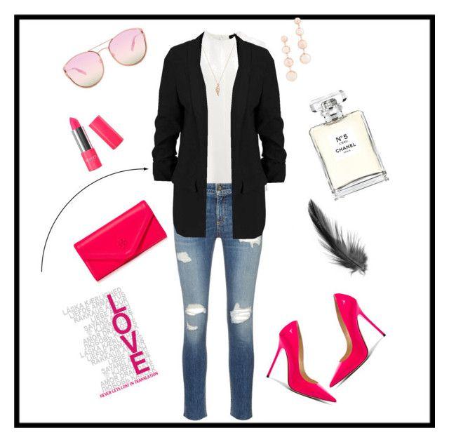 """Glam pink"" by la-mala-manjarrez on Polyvore featuring moda, Joseph, rag & bone/JEAN, Jimmy Choo, Tory Burch, Rebecca Minkoff, Quay y Chanel"