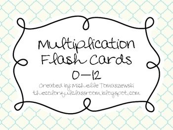 multiplication facts 0 12 flash cards 9 sets of multiplication flash cards for engaging math. Black Bedroom Furniture Sets. Home Design Ideas